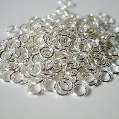 300 4mm Silver Plated Open Jump Rings, 21 Gauge, Jewelry Supplies