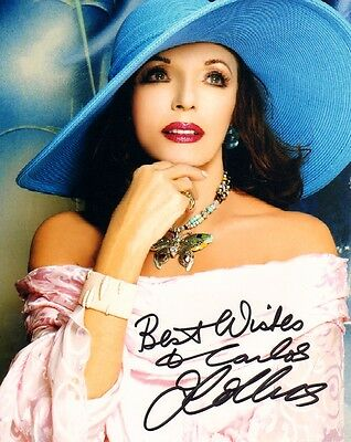JOAN COLLINS - DYNASTY - Selection of Photographs PERSONALLY SIGNED TO CARLOS