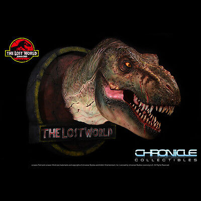 Chronicle The Lost World : Jurassic Park 1:5 Scale T-Rex Bust Statue Figure New