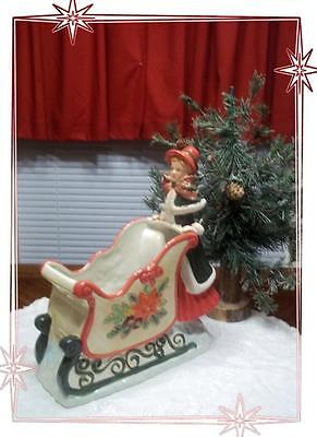 WCL Potteries Young Girl & Christmas Sleigh Candy Dish- So Pretty!!!