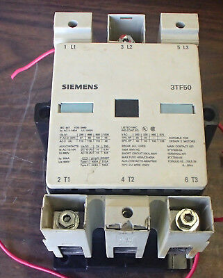Siemens 3TF50 150A Contactor Nice Used Take Out