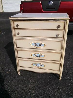 Antique Vintage French Provincial Chest of Drawers Dresser