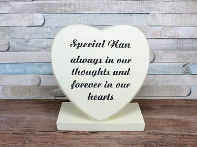 Special Nan Heart Graveside memorial plaque LP25328