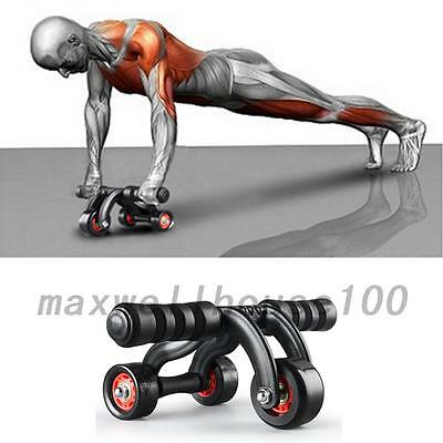 Sport Body Exerciser 3 Wheel Abdominal Exercise Workout Machine With Knee Pad