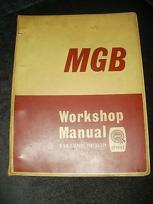 Mg Mgb Roadster Mk1 & Gt Coupe Mk1 (1962-1968) Original Factory Repair Manual