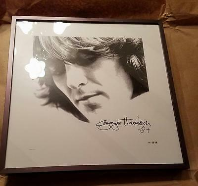 The Beatles-George Harrison-Lithograph-Professionally Framed-A Beautiful George