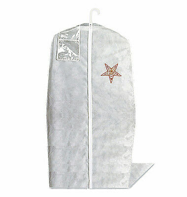 Eastern Star Gown Bag - Zippered Front - Imprinted Logo & Id Holder - New Oes