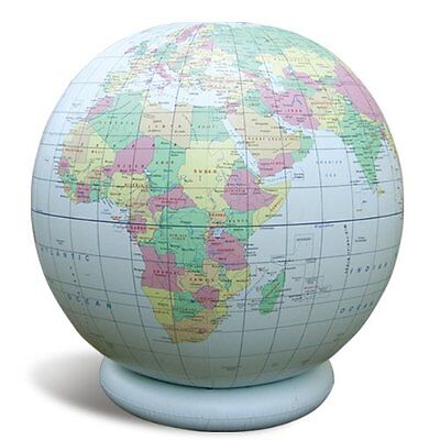 """Jet Creations 36"""" Inflatable Globe  Blue Political"""