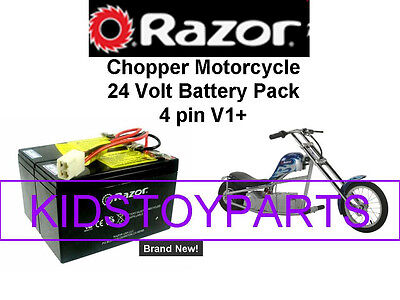 New! 24V Battery Pack for Razor Chopper Motorcycle V1+  W/Harness!