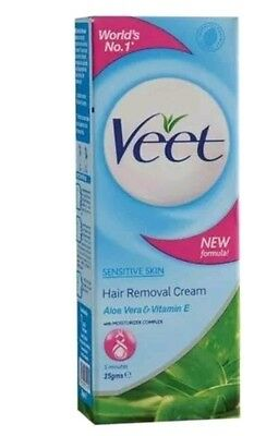 2 x New Veet Hair Removal Cream For Sensitive skin 50 Ml(Fast and Free shipment)