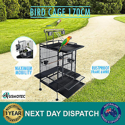 Brand New Parrot Aviary Bird Cage 170cm Pet Stand Alone Budgie Extra Large