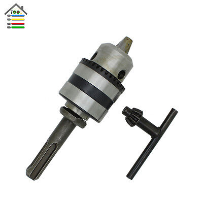 "1.5-10mm Hammer Drill Chuck Adaptor Thread 1/2""-20UNF Rotary Tool For SDS Plus"
