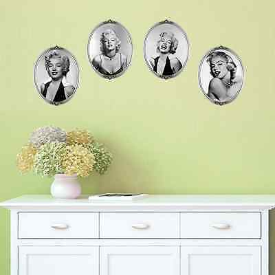 1Set  Marilyn Monroe Portrait Wall Sticker Removable Art Stickers Home Decor