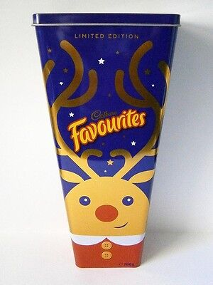 COLLECTABLE 700G LIMITED EDITION CADBURY FAVOURITES XMAS TIN with RUDOLF