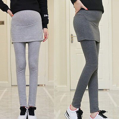 New Pregnant Women's Leggings Fashion Trousers Over Bump Thicken Lining Pants