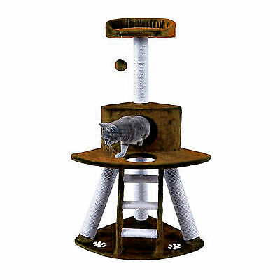 Cat Tree Scratching Post Pet Gym House Condo Bed Poles Furniture Toy 132cm