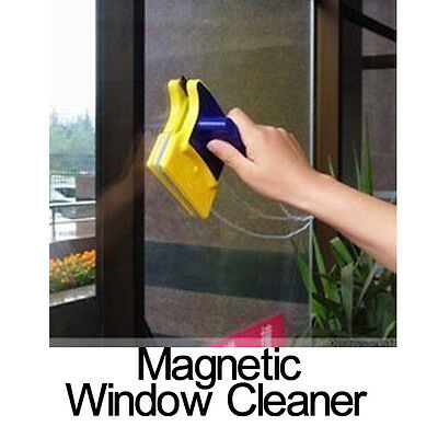 Magnetic Double Sided Window Glass Cleaner Wiper Scraper Brush Cleaning Tool New