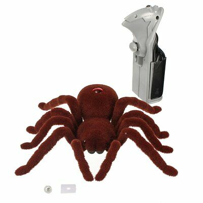 Remote Control Soft Plush Spider Infrared RC Tarantula Toy Gift for Kids