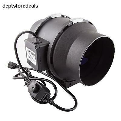 """6"""" 390 CFM Inline Duct Fan w/ Built in Variable Speed Controller Air Ventilation"""