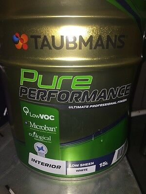 Taubmans Pure Performance Interior Low Sheen White 15 L