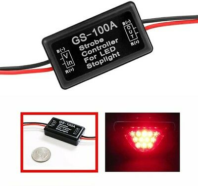 12--24V Car Auto Flash Strobe Controller Flasher Module for LED Brake Stop Light