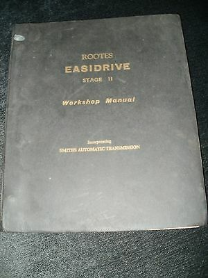 Rootes Easidrive Stage II Workshop Manual Automatic Transmission Smiths 1961