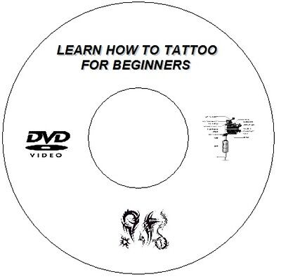 New Learn How To Tattoo Guide Step By Step Lessons For Beginners On Cd / Dvd
