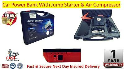 Car Power Bank With Jump Starter & Air Compressor FREE Mainland Next Day Post
