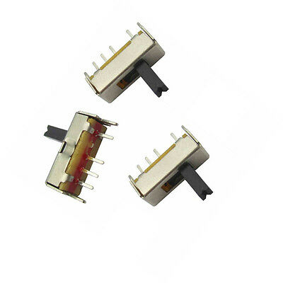 25PCS SS13D07 Slide Switch 1P3T 4Pin W/ Handle 6mm 3 position f DIY Electronic