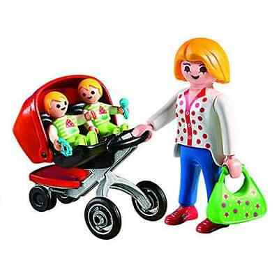 Playmobil 5573 Mother with Twin Stroller City Life Preschool NEW BOXED SEALED