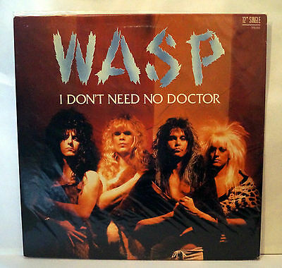 """WASP I Don't Need No Doctor Rare US Promo 12"""" Blackie Lawless W.A.S.P."""
