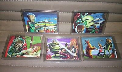 Topps MARS ATTACKS HERITAGE  3D SET #1-5  NEW free shipping