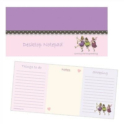 Ladies Who Lunch Stationery - Desktop Notepad (Growing Old Disgracefully)