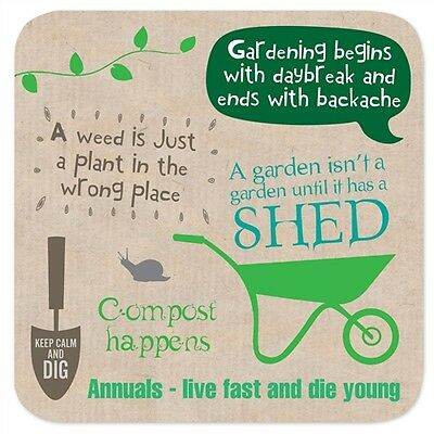 """Coasters - Perfect Gifts For Him & Her """"Gardening"""""""
