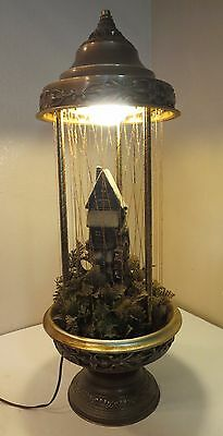 "Vintage Creators 28"" Mineral Oil Motion Rain Lamp Grist Mill Water Wheel"