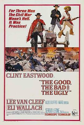 The Good, the Bad and the Ugly Movie POSTER 27x40 Clint Eastwood A, LICENSED NEW