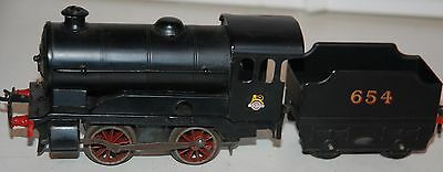 Hornby Series O Gauge Clockwork Type ' Nevawazza' Br Loco In Br Black With Tende