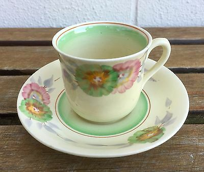 Clarice Cliff -Pink Pearl Viscaria Design Tea Cup & Saucer- Wilkinson Floral Mug