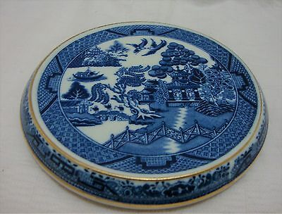 S.Hancocks & sons Corona Ware Willow Pattern Teapot Stand c1912
