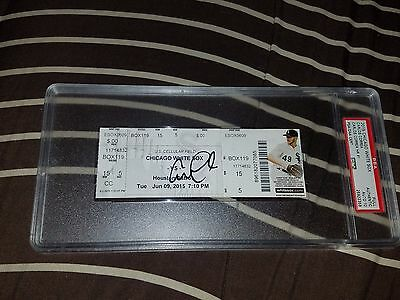 Carlos Correa Signed 1St Home Run Hr Ticket Stub Psa Coa Graded Psa 10