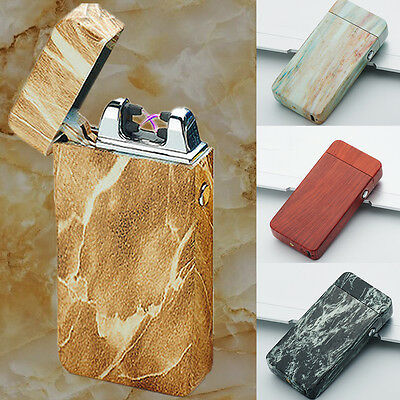 Lighter Rechargeable Electric Dual Arc Cigarette USB Windproof Plasma Patterned