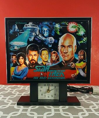 Vintage Star TNG Pinball Clock Light Up from The Williams Pinball Game - New