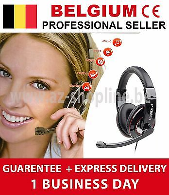 Casque Audio + Microphone Stereo Headset Gaming, Online, Skype, Vidéo, Musique..