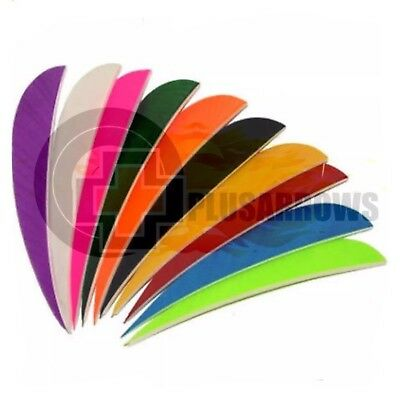 "2.5"" Right Wing Parabolic Feathers for Traditional Archery Arrows"
