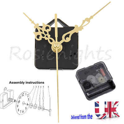 Silent Gold Hands DIY Quartz Clock Movement Mechanism Repair Tool Parts Kit Set