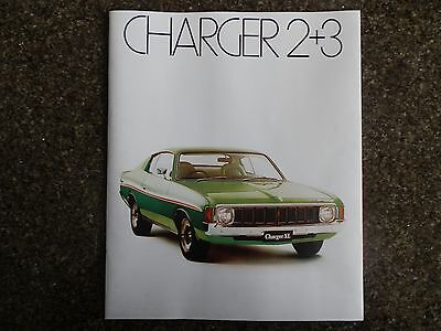 Chrysler Valiant Charger 1974 Vj Sales Brochure. 100% Guarantee.