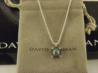 David Yurman Chatelaine Pendant Necklace with Hematine and Diamonds.