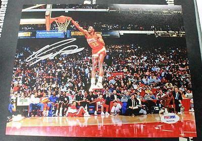 Dominique Wilkins Signed 8X10 Color Action Photo Hawks Psa/dna 7A26334