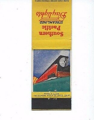 MATCHBOOK COVER Southern Pacific Streamlined