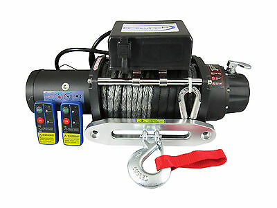 12v 20000lbs Electric Winch 13mm X 26m Dyneema Synthetic Rope 4WD Truck 20000lb